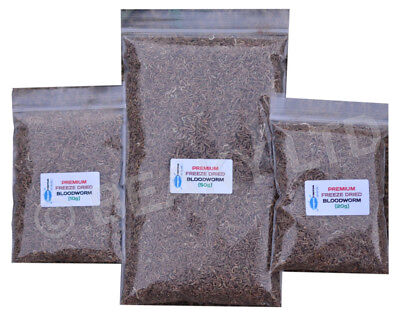 Premium Dried Bloodworm Tropical Fish Food Cichlids Etc [Choose Size Needed]