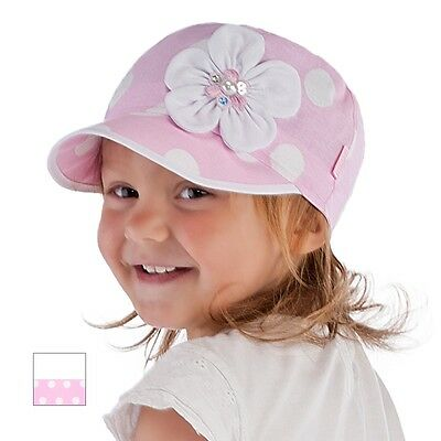 Summer baby hat children hat for little girls with flower siz 50, 52, 54, 1.5-4