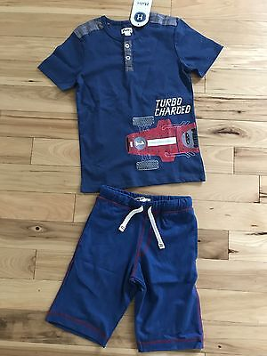 NWT Hatley Boy T-Shirt And Shorts Summer Outfit Size 7