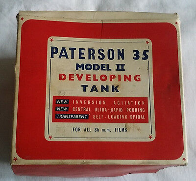 Vintage Paterson 35 Model 2 Developing Tank Boxed 35mm film