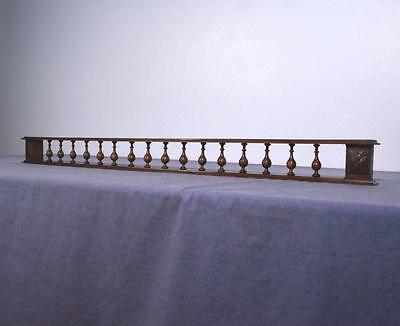 "*45"" Antique French Shelf/Plate Rail in Solid Chestnut Wood Salvage"