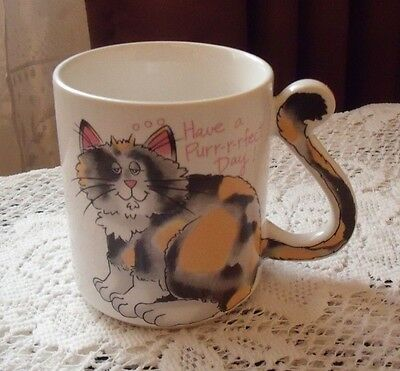Cat Kitty COFFEE MUG CUP HAVE A PERFECT DAY
