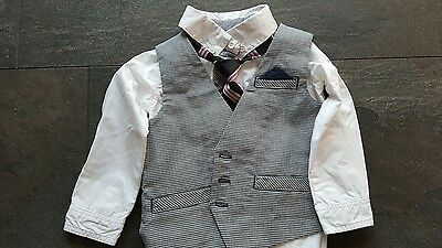 boys shirt , tie and waistcoat worn once 12-18 months