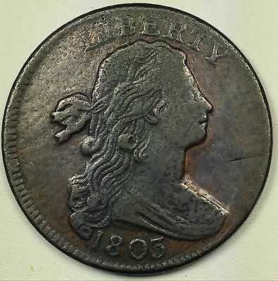 1803 U.S. Draped Bust Large Cent (L179)