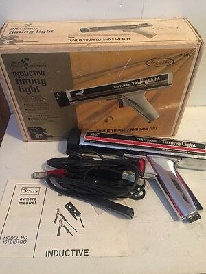 Sears Craftsman Chrome Premium Inductive Timing Light 28-2134 W Manual