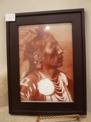 Native American Indian Chief 5X7 Framed Sepia Photo Medicine Crow Absaroke
