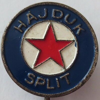 Vintage HNK Hajduk Split Football Club Pin Badge, Croatia Prva HNL Soccer League