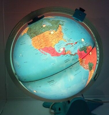 Vintage Fisher Price Light Up Globe 1988 Map with USSR. Nice illumination.