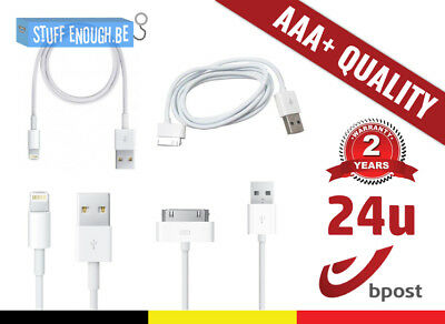 Aaa+ Lightning & 30 Pin Charger Charging Cable Iphone 4 5 6 7 Ipad Ipod 1M 2M 3M