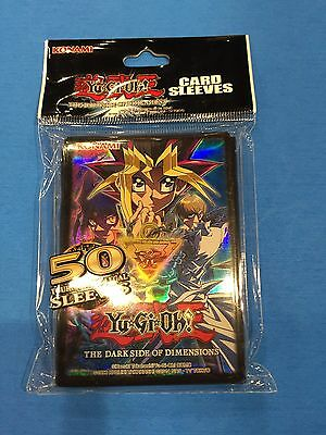 Yu-Gi-Oh ( THE DARK SIDE OF DIMENSIONS ) 50 Deck Sleeves Official Konami Product