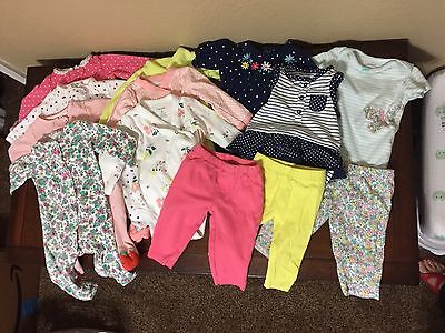 Lot of Carters Baby Girl Clothes 3 Months