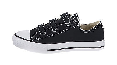 CONVERSE Chuck Taylor All Star 3 Strap Low Black White Canvas Boys Shoes 3V603