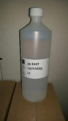 1L 2K Fast Thinners Spray Paint Base Coat Clear Acrylic Car Universal Thinner