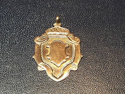 Antique Vintage Solid Rose 9ct Gold Football Medal Medallion Watch Chain Fob 4g