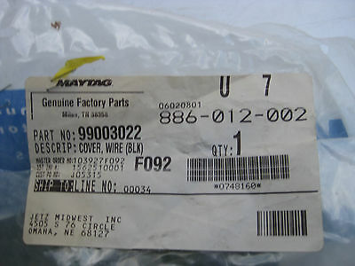 BRAND NEW Genuine OEM Maytag   99003022  COVER WIRE (BLK)