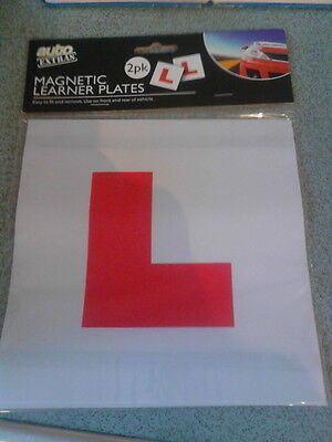 L plates magnetic X 2. learner driver plates UK legal twin pack. Front, rear car