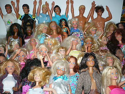 49 Barbies All Clothed ,some Posable,some Rare ,dressed In Nice Vintage Clothing
