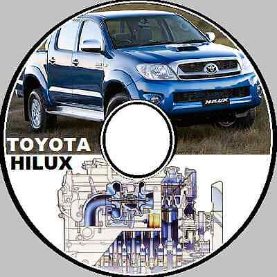 Toyota Hilux 2005 2006 2007 2009 2010 Workmate Sr Sr5 Master Workshop Manual Cd