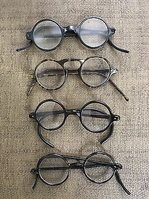 LOT of ANTIQUE Spectacles 1920s 1930s celluloid windsor tortoise FREE SHIPPING