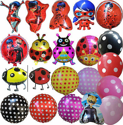 Miraculous Ladybug / Red Yellow Ladybird Balloon Birthday Party Supplies Gift