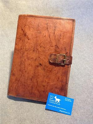 Handmade Goat Leather A4 Book Cover BCDA4 iPad Cover Notebook Folder Compendium