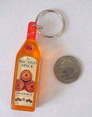 Bacardi Spice Spiced Rum Plastic Bottle Advertising Promo Key Chain