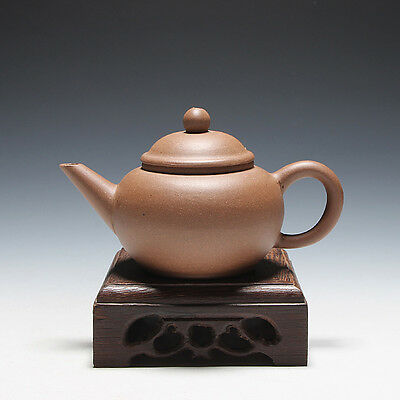 5000friend-China Yixing Old 1st Zisha Factory Unused 100cc ShuiPing Teapot,1970'