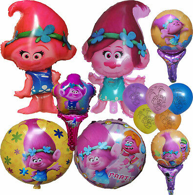 Trolls Poppy Balloon Birthday Party Supplies Lolly Bag Filler Gift Favor