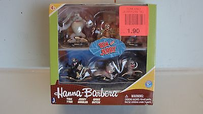 """Rare ~ New Hanna Barbera Tom And Jerry 2"""" Figures Collectors 6 Pack Warner Bros"""