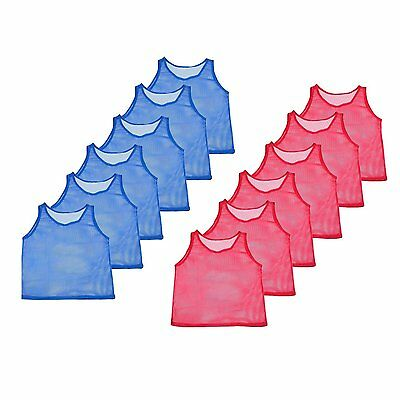 12 Youth Scrimmage Practice Jerseys Team Pinnies Sports Vest for Children