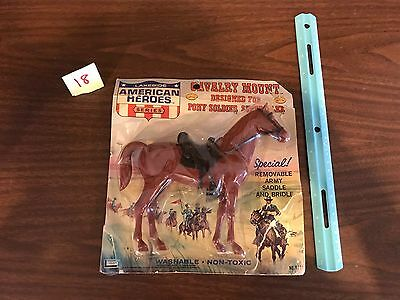 Vintage 1966 Lakeside Toys American Heroes Calvary Mount Horse Toy NOS