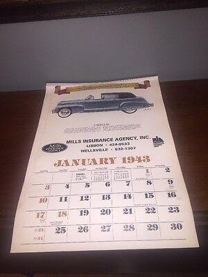 Used 1999 Automemories of 1943 Calendar Advertising Insurance Automobiles