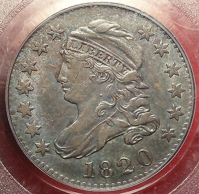 PCGS AU55 1820 Capped Bust Dime JR-7 Small 0 10c Variety