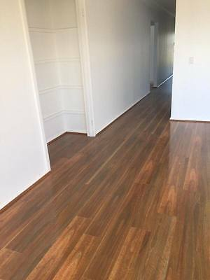12Mm Timber Laminate Flooring Spotted Gum Sample Only - Droplock-Gloss/ Ac4