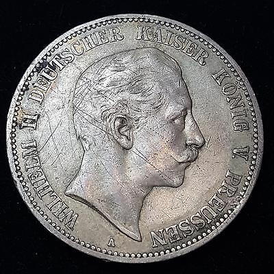 1906 Germany Prussia 5 Mark Silver Coin C6