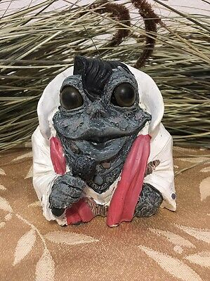 Toad Hollow Collectible Elvis Frog Figure Home Decor Yard Art