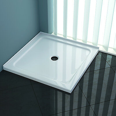 900x900x40mm Square Shower Screen Base Tile Over Tray Australia Standard Plug