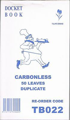 100 Restaurant / Takeaway books TB022: 50 Pages duplicate Carbonless