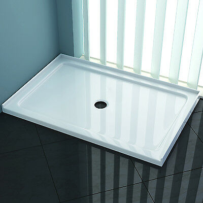 1200x800x40mm Square Shower Screen Base Tile Over Tray Australia Standard Plug