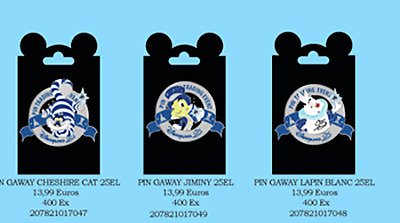 PINS EVENT DISNEYLAND PARIS : ONCE UPON A STAR set of 4 gaway