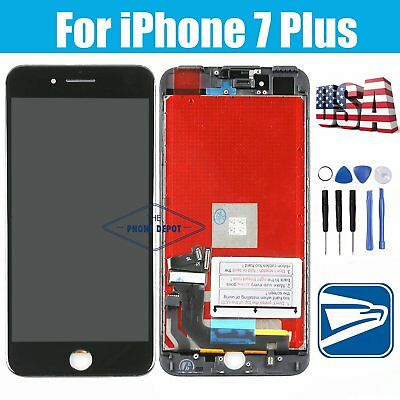 """For iPhone 7 Plus 5.5"""" LCD Display Touch Screen Digitizer Lens Black Replacement"""