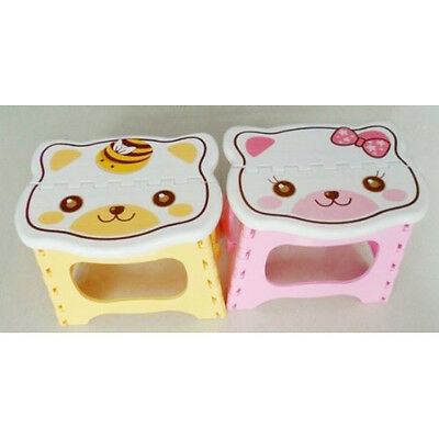 Cute Cartoon Cat Easy Foldable Children Step Very Firm Stool-Pink CT L7C1 B4O5