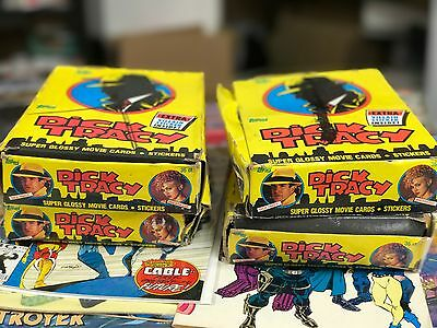 Dick Tracy Lot of (4) Wax Boxes - gorgeous!