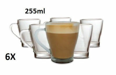 6pk Glass Cup Glasses Mug Hot Cold Drink Coffee tea Heat Resistant