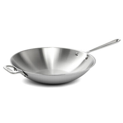NEW All-Clad Stainless Steel Open Stir-Fry Pan 36cm