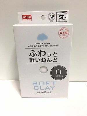 NEW Daiso Japan Soft Clay WHITE color DIY Handmade F/S Made in Japan