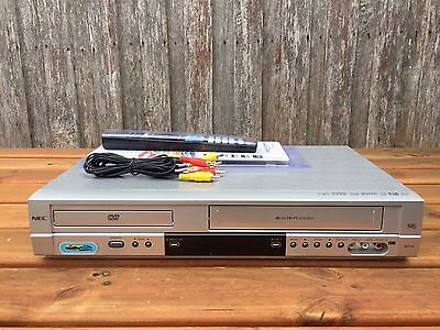 Serviced NEC NDT-42 Combo VCR DVD player + Video Recorder + Remote + RCA