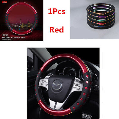 PU Leather 38cm Car Non-slip Handle Steering Wheel Protector Cover High Quality
