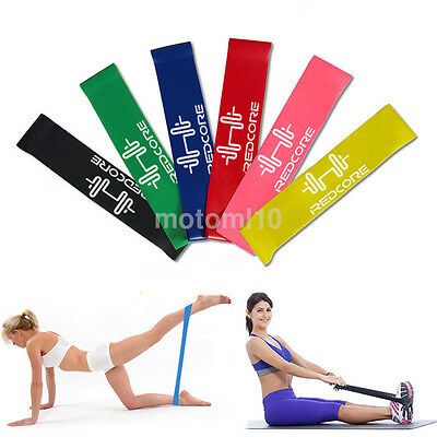 Yoga Gym Strength Training Fitness Band Elastic Rubber Resistance Loop Equipment