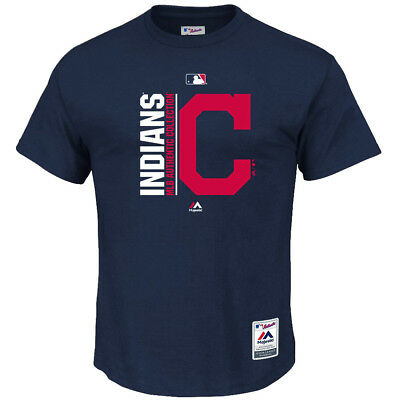 Cleveland Indians Majestic MLB AC On-Field Team Icon T-Shirt - Navy